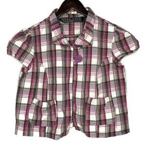 Last Kiss Plaid Short Sleeve Button Down Shirt